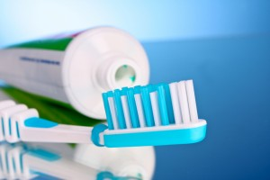 fluoride toothpaste and toothbrush
